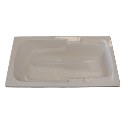 60 x 30 Arm-Rest Salon Spa Air/Whirlpool Tub Finish: White, Drain Location: Right