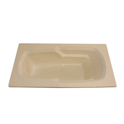 72 x 36 Armrest Whirlpool Tub Finish: White, Drain Location: Left