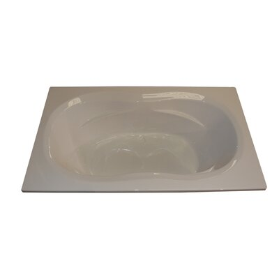 72 x 42 Arm-Rest Salon Spa Soaking Tub Finish: Bone, Motor Location: Left
