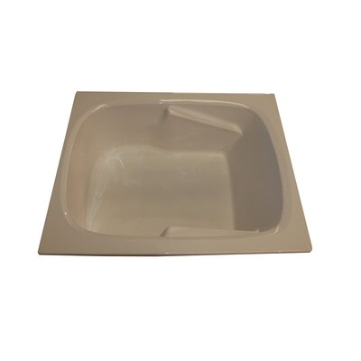 60 x 48 Arm-Rest Soaking Tub Finish: Biscuit, Drain Location: Left