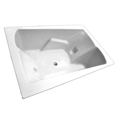 71 x 48 Arm-Rest Salon Spa Soaking Tub Finish: Biscuit, Motor Location: Right