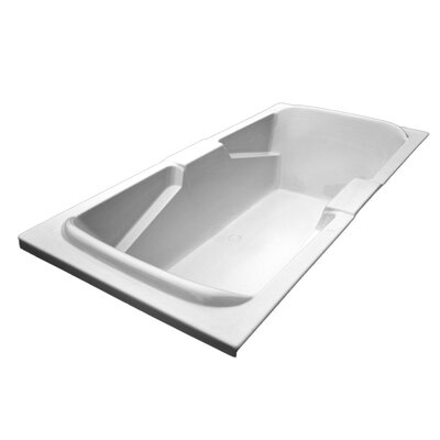 72 x 36 Arm-Rest Salon Spa Soaking Tub Finish: Biscuit, Motor Location: Left
