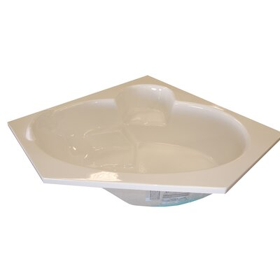 60 x 60 Corner Salon Spa Soaking Tub Finish: White, Motor Location: Left
