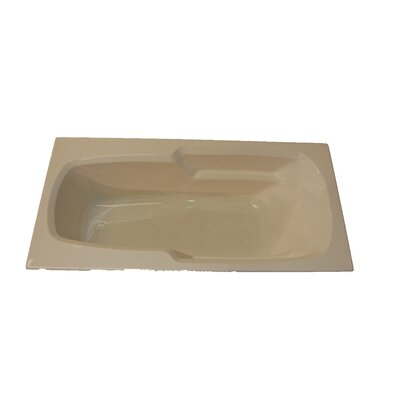 66 x 32 Arm-Rest Soaking Tub Finish: Bone, Drain Location: Right