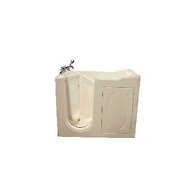 52 x 27 Walk-In Tub with Air Massage Finish: White, Drain Location: Left