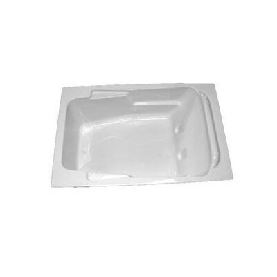 72 x 48 Arm-Rest Soaking Tub Finish: Biscuit, Drain Location: Right
