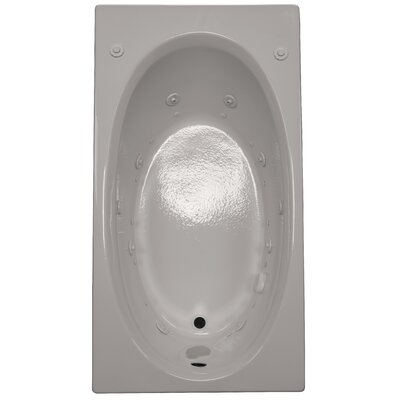 60 x 32 Air / Whirlpool Bathtubub Finish: White, Drain Location: Left