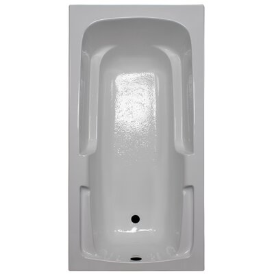 60 x 30 Soaker Arm-Rest Bathtub Finish: White