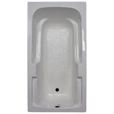 60 x 32 Soaker Arm-Rest Bathtub Finish: White