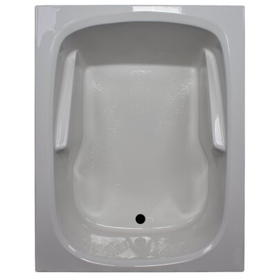 60 x 48 Soaker Arm-Rest Bathtub Finish: White