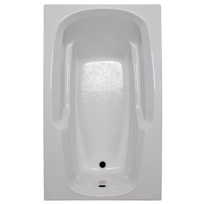60 x 36 Soaker Arm-Rest Bathtub Finish: White