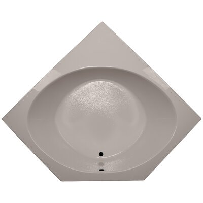 60 x 60 Corner Whirlpool Tub Finish: Bone, Motor Location: Right