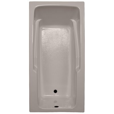 60 x 30 Soaker Armrest Bathtub Finish: Bone, Tile Flange: Yes