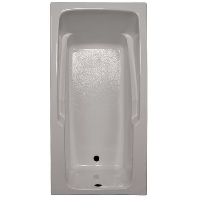 60 x 30 Soaker Armrest Bathtub Finish: Biscuit, Tile Flange: No