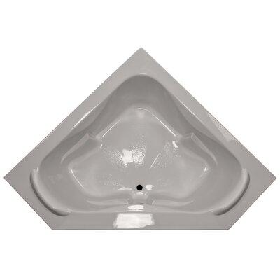 60 x 60 Soaker Corner Bathtub with Raised Headrest Finish: Biscuit