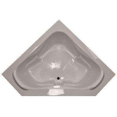 60 x 60 Soaker Corner Bathtub with Raised Headrest Finish: Bone
