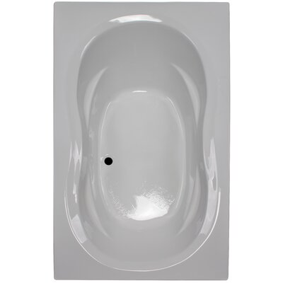 72 x 42 Soaker Arm-Rest Bathtub Finish: White
