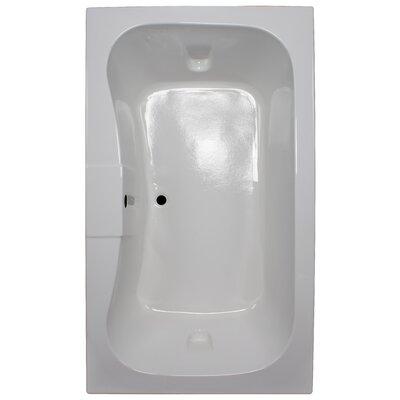 72 x 42 Soaker Rectangular Bathtub Finish: White