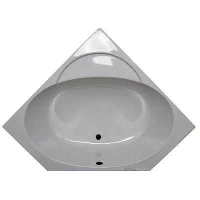 48 x 48 Soaker Corner Bathtub Finish: White