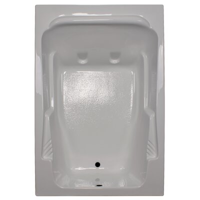 72 x 48 Soaker Arm-Rest Bathtub Finish: White