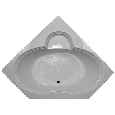 60 x 60 Soaker Corner Bathtub Finish: White