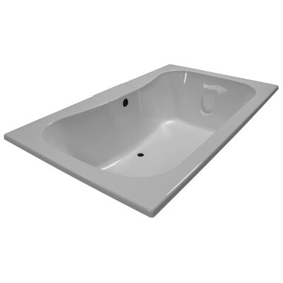 72 x 42 Soaker Rectangular Bathtub Finish: White