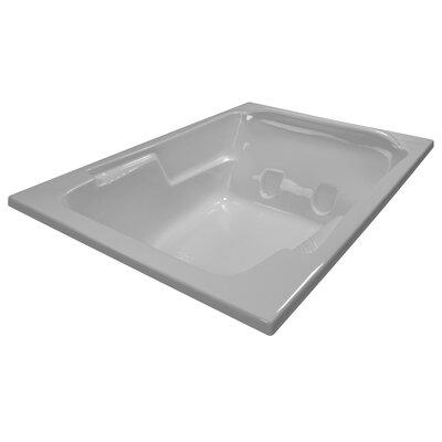 72 x 48 Soaker Arm-Rest Bathtub Finish: White