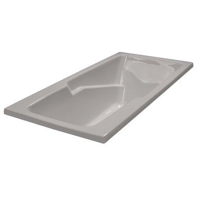 60 x 30 Soaker Armrest Bathtub Finish: Biscuit, Tile Flange: No