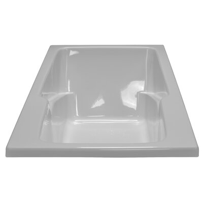 60 x 30 Soaker Armrest Bathtub Finish: White, Tile Flange: Yes