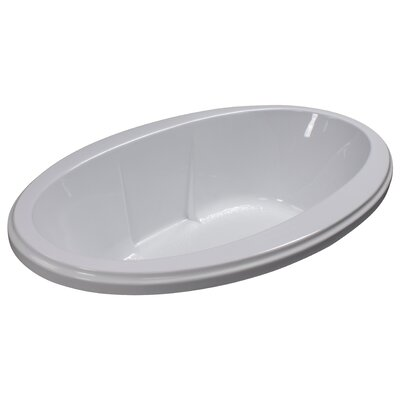 72 x 45 Soaker Drop-In Bathtub Finish: White