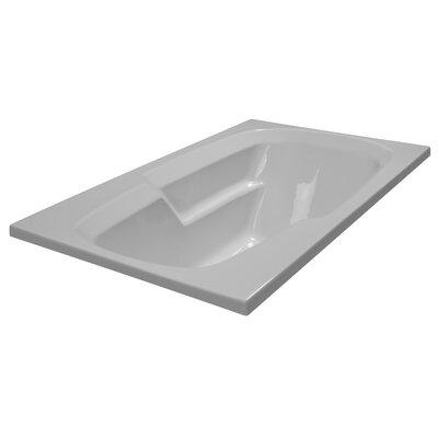 60 x 36 Soaker Arm-Rest Bathtub Finish: White
