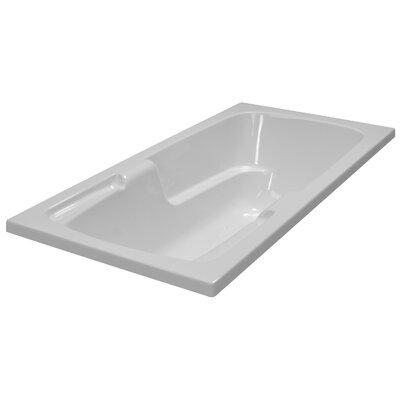 60 x 30 Soaker Arm-Rest Bathtub Finish: White
