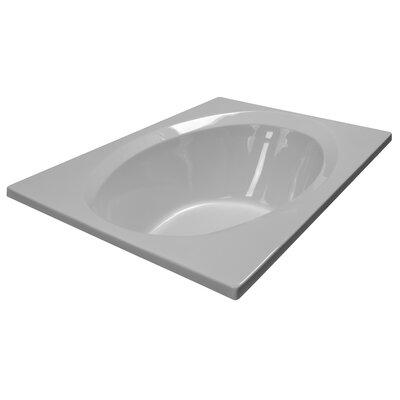 60 x 42 Rectangular Deck Soaker Bathtub Finish: White
