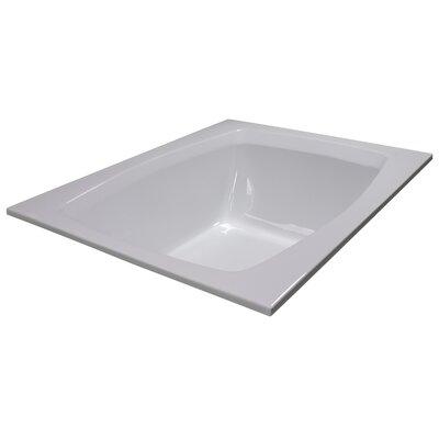 60 x 48 Soaker Bathtub Finish: White