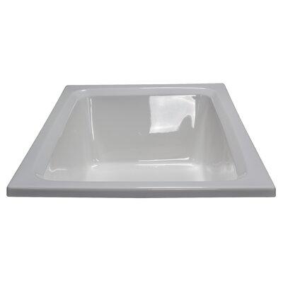60 x 42 Soaker Rectangular Bathtub Finish: White