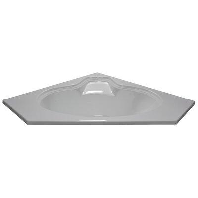 60 x 60 Soaker Corner Oval Bathtub Finish: White