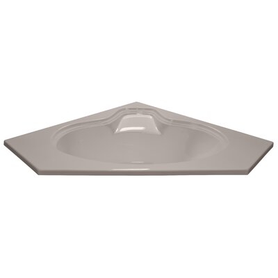 60 x 60 Soaker Corner Oval Bathtub Finish: Bone