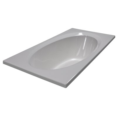 72 x 36 Soaker Bathtub Finish: White