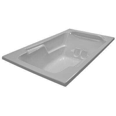 71 x 41 Soaker Arm-Rest Bathtub Finish: White