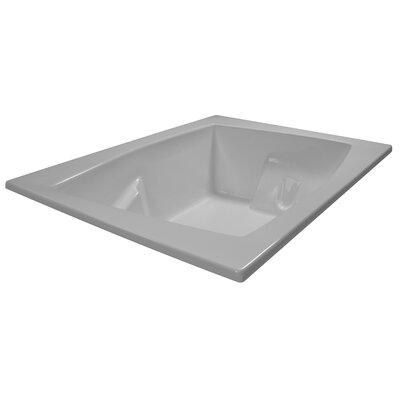 72 x 54 Soaker Arm-Rest Bathtub Finish: White
