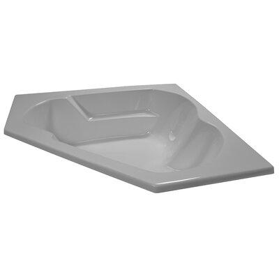 60 x 60 Soaker Arm-Rest Corner Bathtub Finish: White