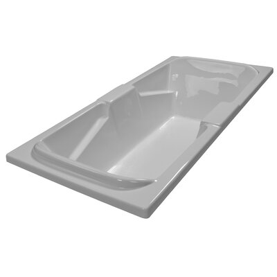 72 x 36 Soaker Arm-Rest Bathtub Finish: White