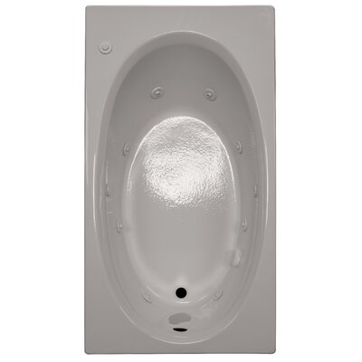 60 x 32 Whirlpool Bathtub Finish: Biscuit, Drain Location: Right