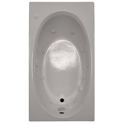 60 x 32 Whirlpool Bathtub Finish: Biscuit, Drain Location: Left