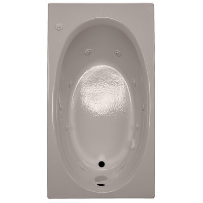60 x 32 Whirlpool Bathtub Finish: Bone, Drain Location: Left
