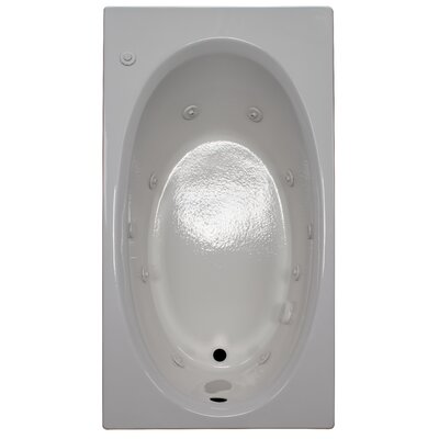 60 x 32 Whirlpool Bathtub Finish: White, Drain Location: Right