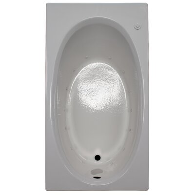 60 x 32 Air Bathtub Finish: White, Drain Location: Right