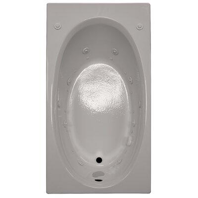 60 x 32 Air / Whirlpool Bathtubub Finish: Biscuit, Drain Location: Left