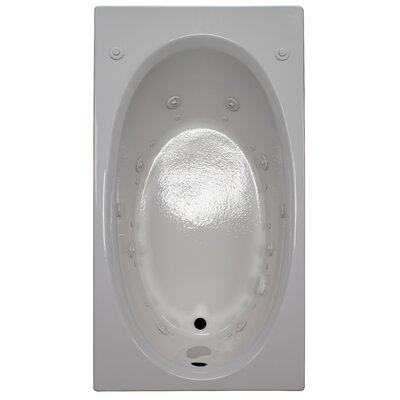 60 x 32 Air / Whirlpool Bathtubub Finish: White, Drain Location: Right
