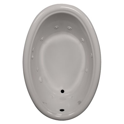 58 x 39 Whirlpool Bathtub Finish: Biscuit, Drain Location: Right